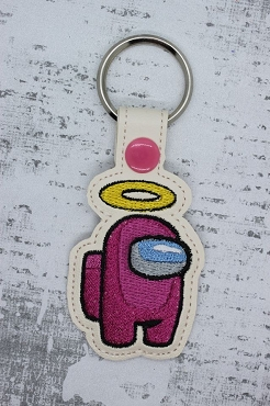 Halo Among Us Snaptab / Keyfob Embroidery Design